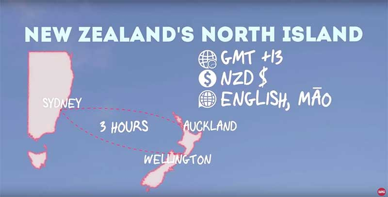 New zealand map currency language time zone