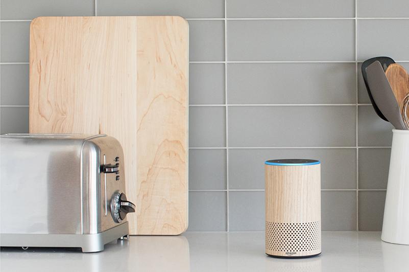 Amazon Echo on kitchen counter