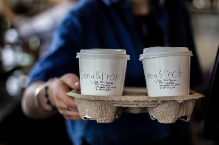 takeaway coffee cups from ootong and lincoln perth