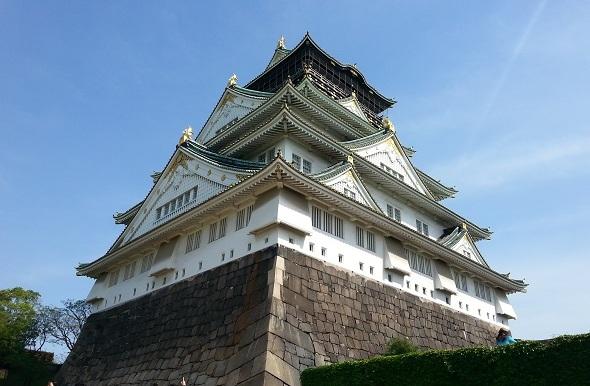 Osaka castle front