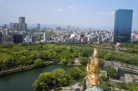 Osaka, osaka casstle, osaka skyline