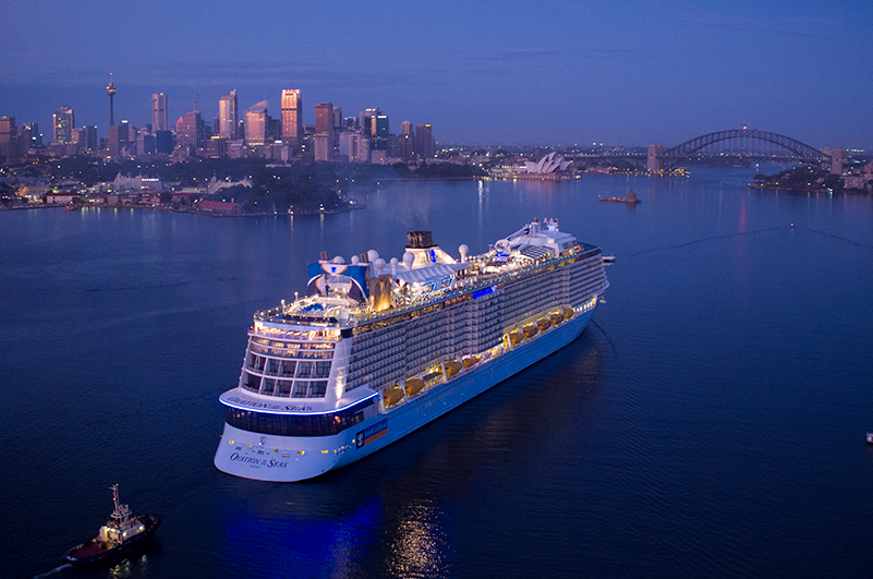 RCI's Ovation of the Seas in Sydney Harbour.