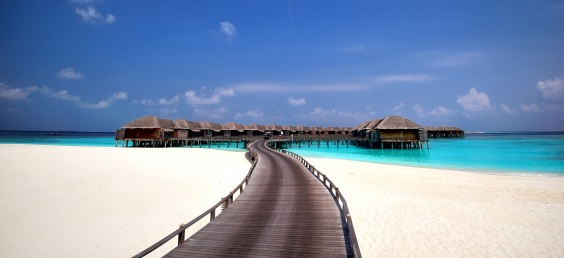 Overwater bungalows, Maldives
