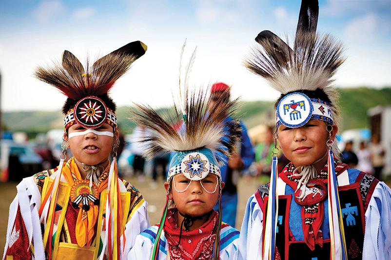 Local kids at the Standing Buffalo First Nation Powwow in Saskatchewan