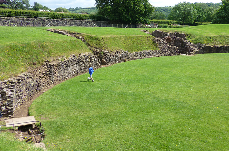 Part of the Caerleon Amphitheatre.