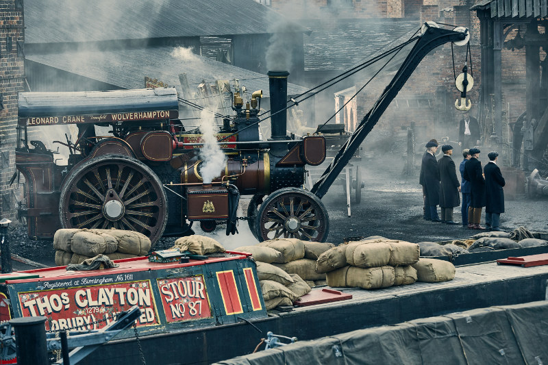 Liverpool location set dressed as 1920s