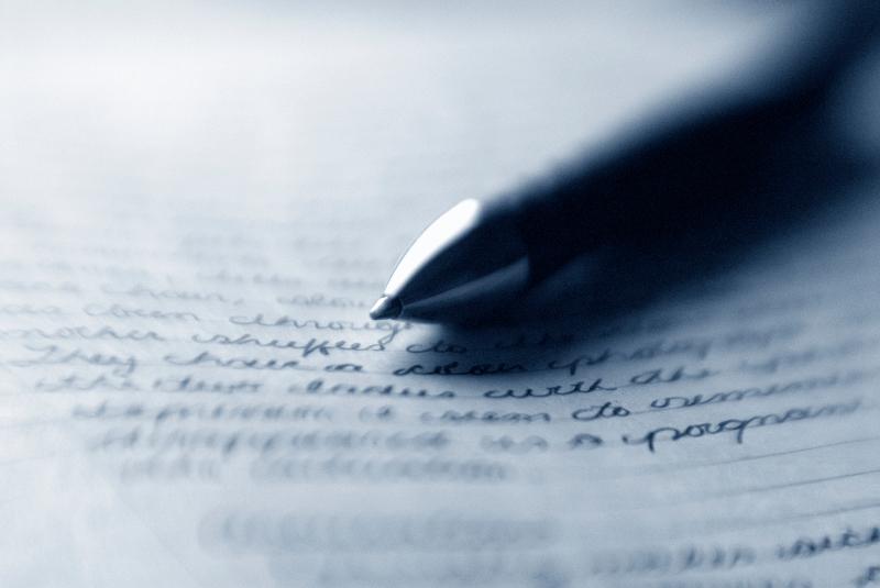 a close up of a notebook
