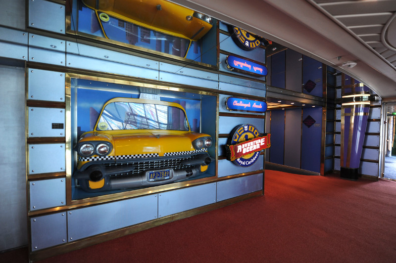 The entrance to the Adventure Ocean kids club on board a Royal Caribbean cruise ship.