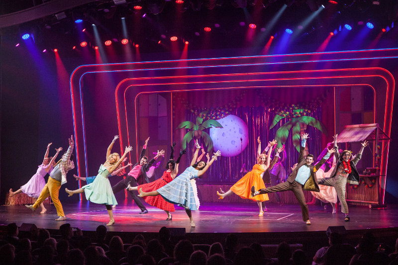 A stage show on board a Royal Caribbean cruise ship.