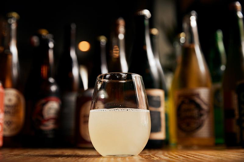 Cider at a bar