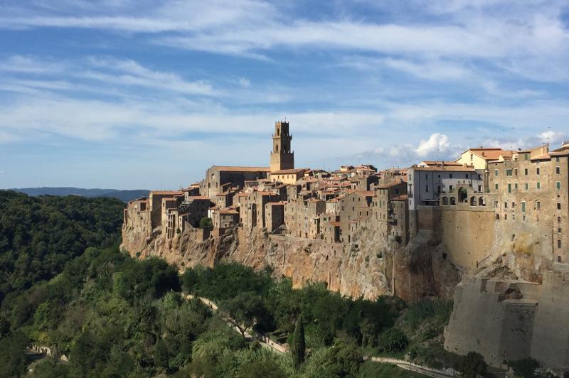 Pitigliano Italy walled city