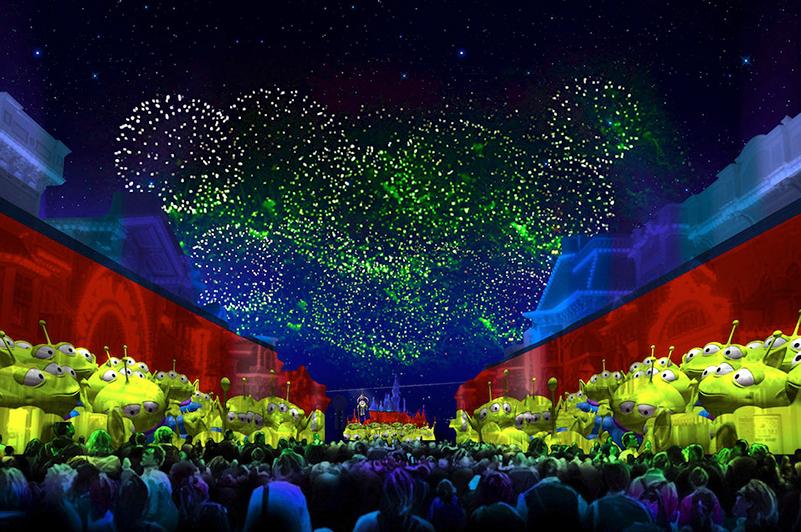 An artist's rendition of Disneyland Resort's Pixar Fest event.