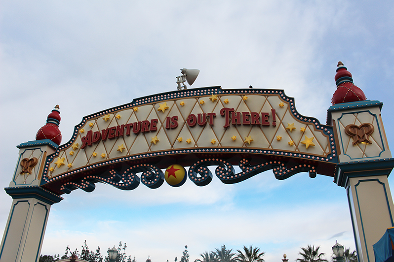 Pixar Pier sign at Disney California Adventure Park
