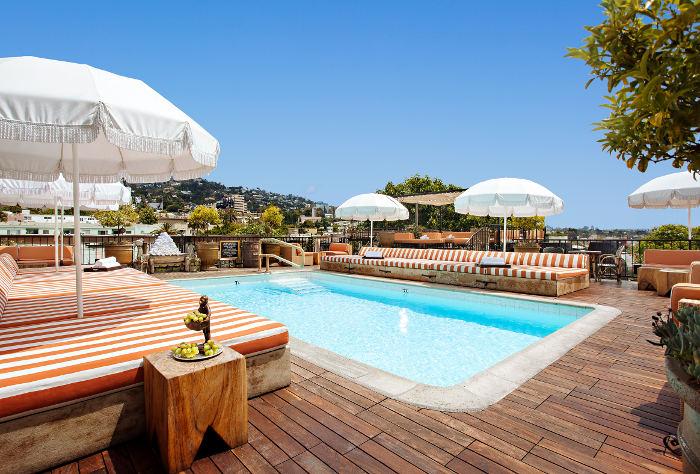 petit ermitage rooftop pool