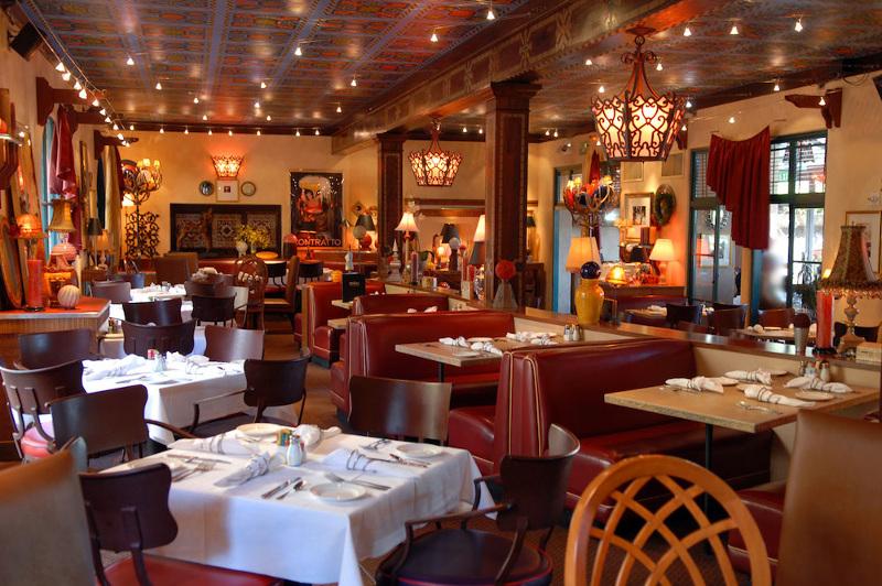 The interiors of The Prado at Balboa Park restaurant