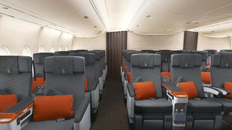 Singapore Airlines A380 premium economy class cabin