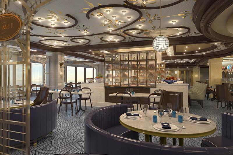 La Mer restaurant on board the cruise ship Majestic Princess.