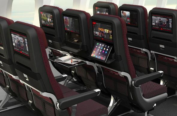 economy cabin on qantas 787 dreamliner