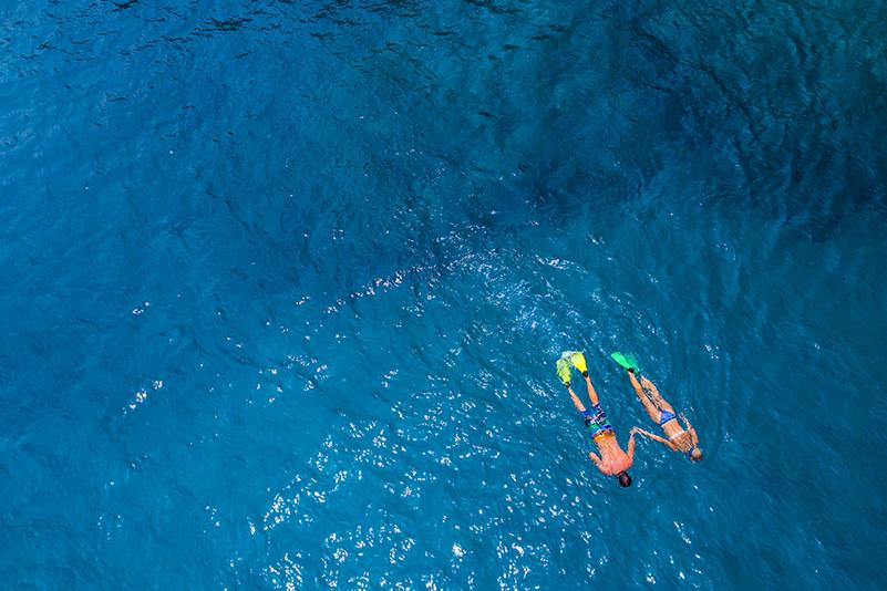 Couple snorkelling in Vanuatu