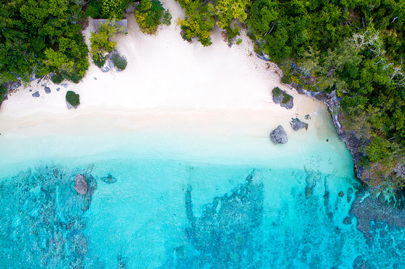RCI private island Perfect Day at Lelepa aerial view