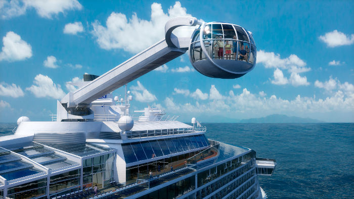 Ovation of the seas north star observation deck at sea