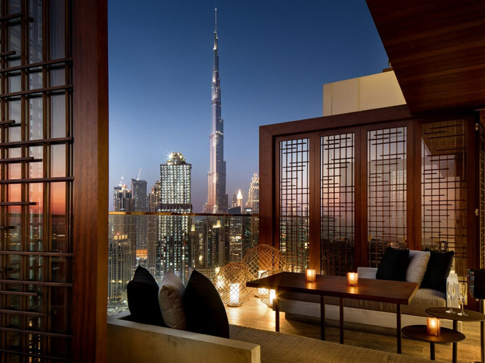 Stunning views from the Renaissance Downtown in Dubai
