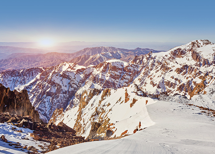 The snow-flecked Jebel Toubkal is a challenging summit but worth the climb for the panorama.