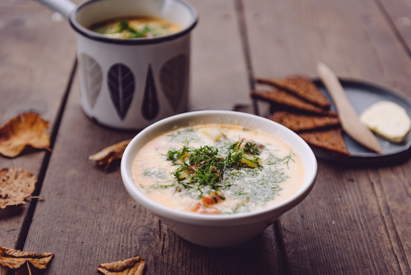 traditional Finnish salmon soup