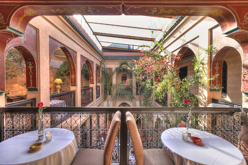 dining in luxury hotel in Marrakesh