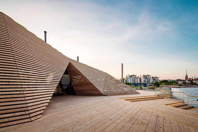 exterior of loyly sauna, Helsinki