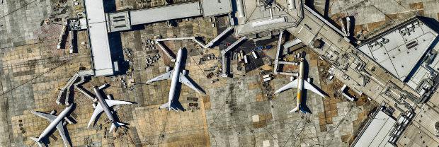 aerial view Melbourne Airport Australia