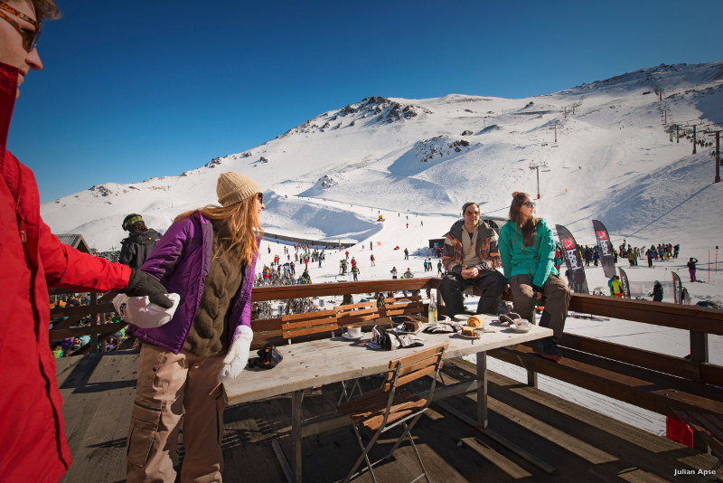 Cafe at the top of Mt Hutt New Zealand