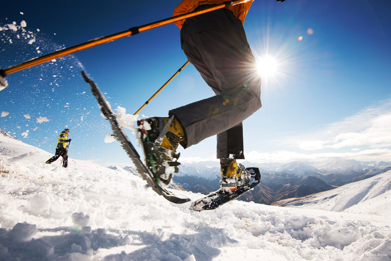 skiers at cecil peak queenstown new zealand