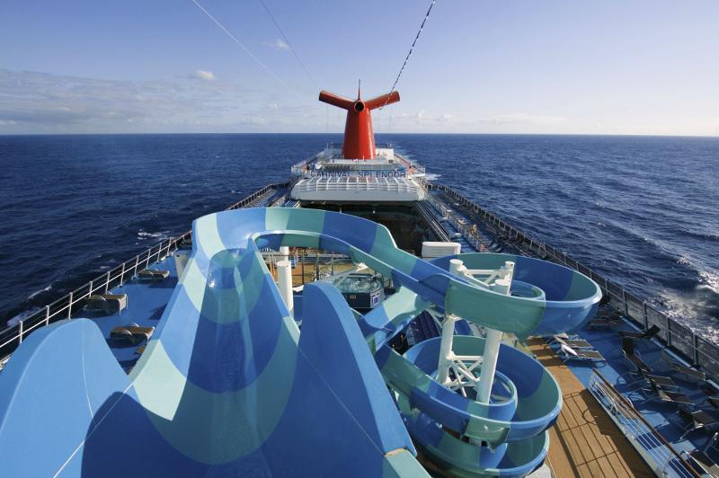 waterslide aboard Carnival Splendor cruise ship by Carnival