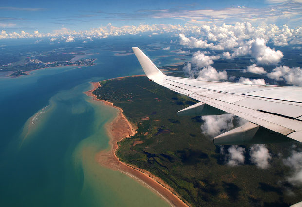 Darwin Harbour views from plane