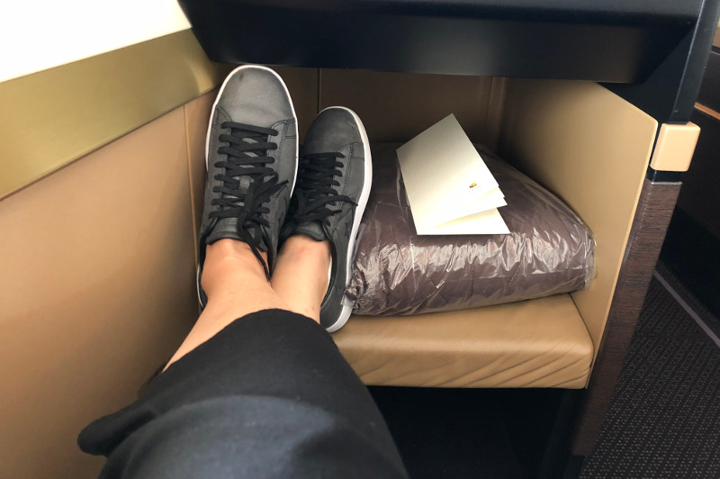 Legroom aboard Etihad Airways Business Class