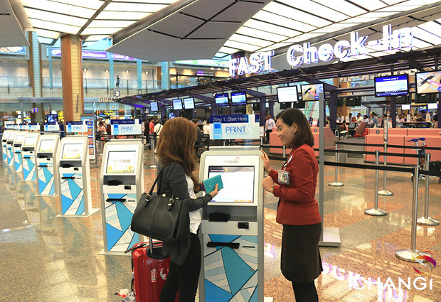 FAST check-in Singapore Changi Airport