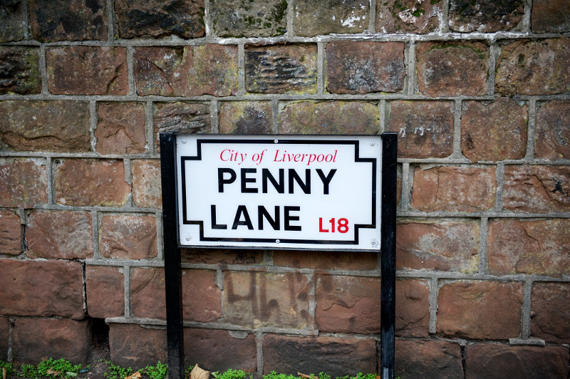 Penny Lane, Liverpool, Great Britain
