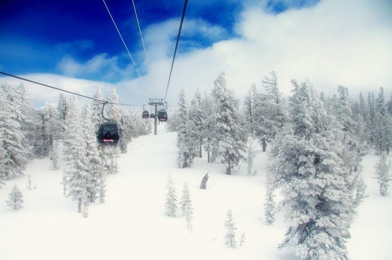 ski lift in california