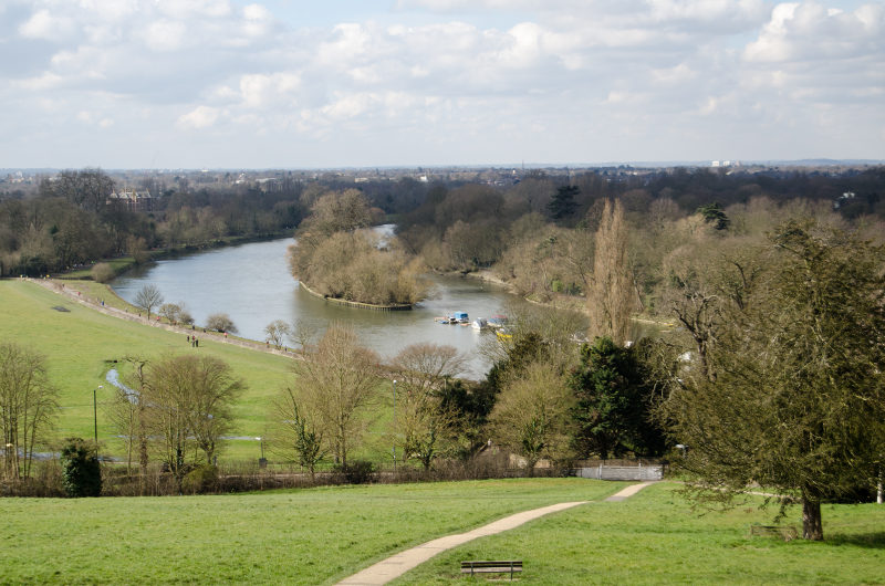 view of the thames river at richmond, london