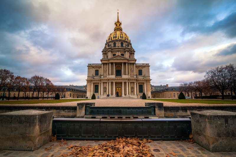 Les Invalides monument, Paris, France