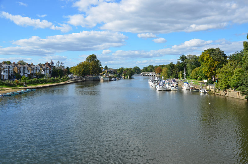 east molesey on river thames, london