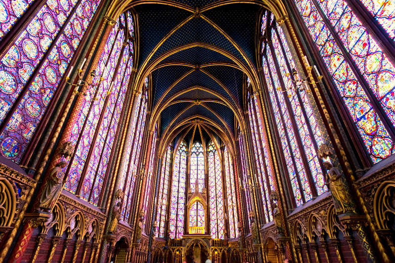 Saint-Chapelle monument, Paris, France