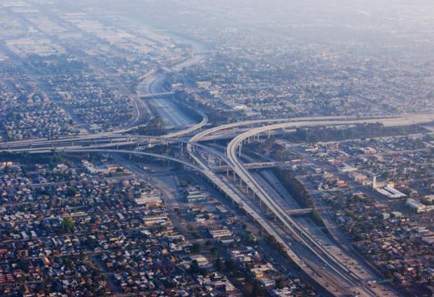 Freeways near LAX Los Angeles International Airport