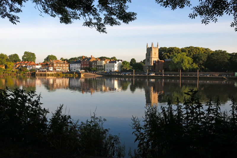 Old Isleworth on the river thames, london