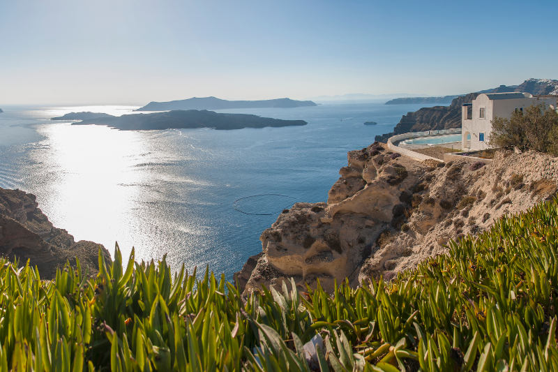 views from Megalochori, Santorini