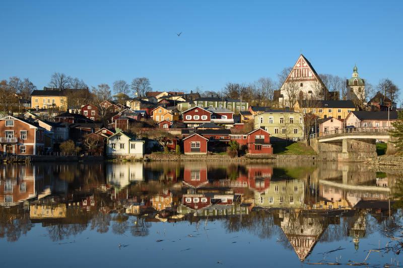Traditional old town of Porvoo, Finland