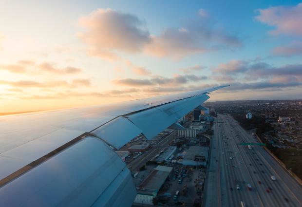 View of 405 Freeway near LAX Los Angeles International Airport