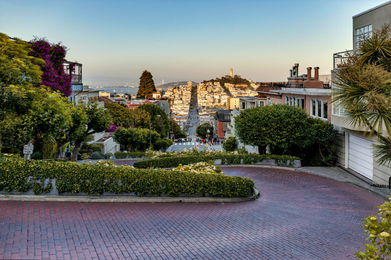 Most crooked Street in San Francisco Lombard Street