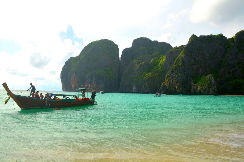 boat on the Andaman Sea, Thailand